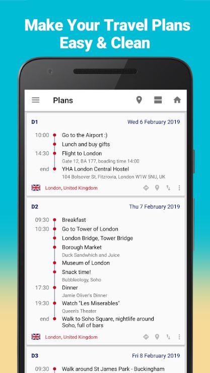 Urlaub Reise App